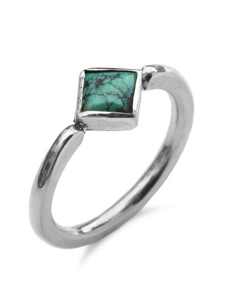 SunKu(サンク・39)Roller Press Ring 02 W/Turquoise / [SK-192-02] リング 指輪 シルバー ターコイズ グリーン 緑 銀 天然石 宝石 メンズ レディース【送料無料】