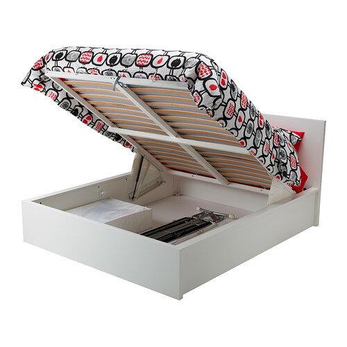 【★送料無料★IKEA/イケア★】MALM オットマンベッド  160x200 cm/ ホワイト/802.905.00