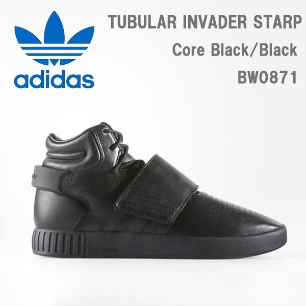 adidas originals (アディダス?オリジナルス) TUBULAR INVADER STRAP  スニーカー [メンズ] BW0871 【BLK/25.5(US7.5)-29cm(US11.0)】 チュブラー ブラック モード レザー 海外モデル 日本未発売10P03Dec16【あす楽】