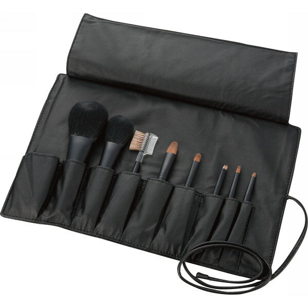 【送料無料】熊野化粧筆セット 筆の心 ブラシ専用ケース付 KFi-K258【代引不可】【ギフト館】
