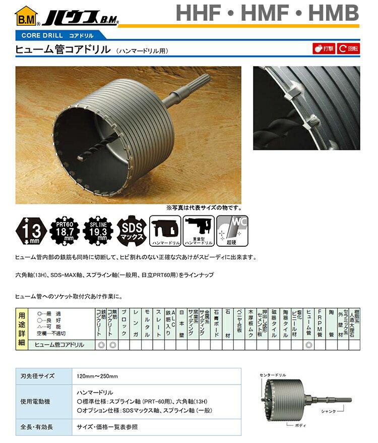 【超特価】【オススメ】〈ハウスビーエム〉ヒューム管用コアドリル ボディ HMB-204