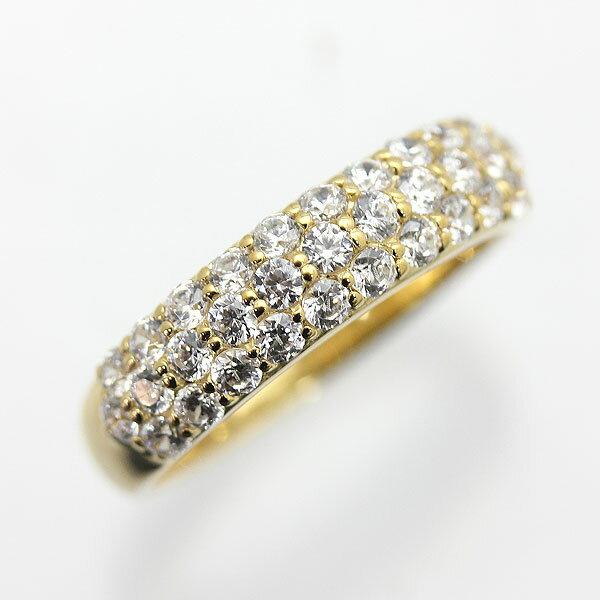 K10YG 0.7ct ダイヤモンド パヴェリング
