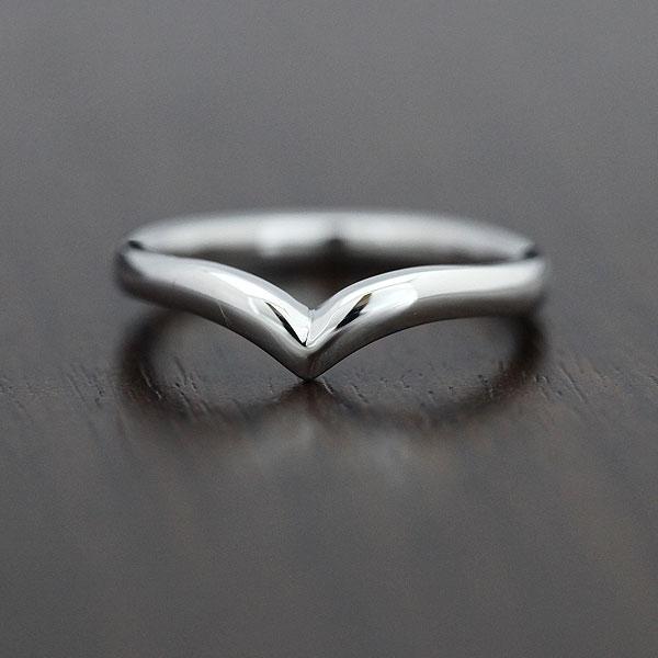 PT100(Pt10%) シンプルリング マリッジリング プラチナV字 メンズリング【結婚指輪】