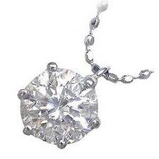 ( 4月誕生石 ) K18ホワイトゴールド・プラチナ900 ダイヤモンドペンダントネックレス(0.7カラット)【楽ギフ_包装】 【DEAL】