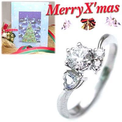 クリスマス限定Xmasカード付( 婚約指輪 ) ダイヤモンド プラチナエンゲージリング( 6月誕生石 ) ムーンストーン【楽ギフ_包装】