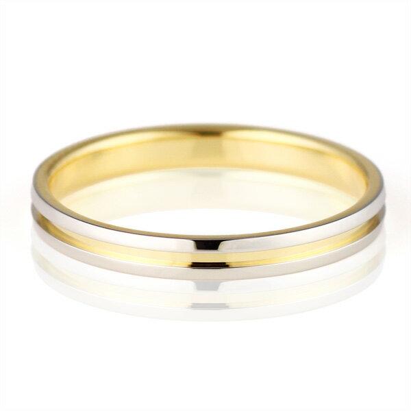 結婚指輪 マリッジリング ペアリング プラチナ K18イエローゴールド Himawari 人気 (特注サイズ23~30号)【楽ギフ_包装】
