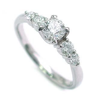 AneCan掲載 (Brand アニーベル) Pt ダイヤモンドデザインリング(婚約指輪・エンゲージリング) メレ 【楽ギフ_包装】