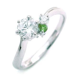 婚約指輪 エンゲージリング ダイヤモンド ダイヤ リング 指輪 人気 ダイヤ プラチナ リング ペリドット 0.35ct【楽ギフ_包装】