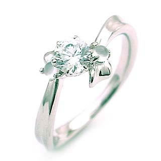 ( 6月誕生石 ) ムーンストーン Ptダイヤリング(婚約指輪・エンゲージリング)【楽ギフ_包装】
