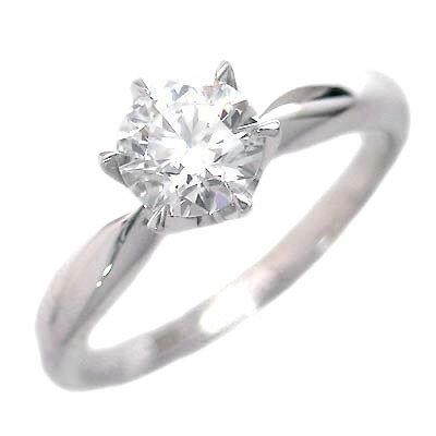 婚約指輪 ダイヤモンド リング 立爪 ダイヤ エンゲージリング ダイヤモンド ダイヤリング プラチナ900 SIクラス0.30ct 鑑定書付き