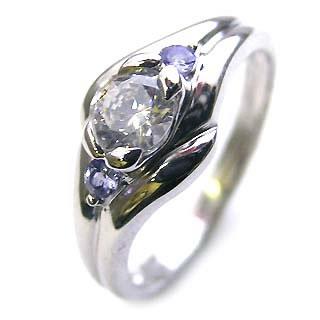 婚約指輪 エンゲージリング ダイヤモンド ダイヤ リング 指輪 人気 ダイヤ プラチナ リング タンザナイト 0.33ct【楽ギフ_包装】