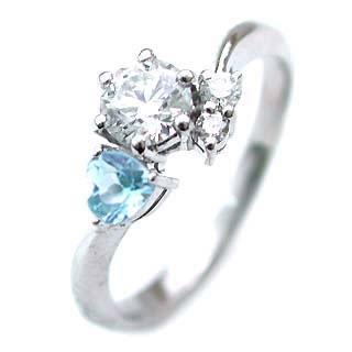 CanCam掲載( 婚約指輪 ) ダイヤモンド エンゲージリング( 11月誕生石 ) ブルートパーズ【楽ギフ_包装】
