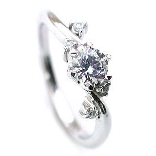 (Brand Jewelry fresco)  Pt ダイヤモンドリング(婚約指輪・エンゲージリング)【楽ギフ_包装】 【DEAL】