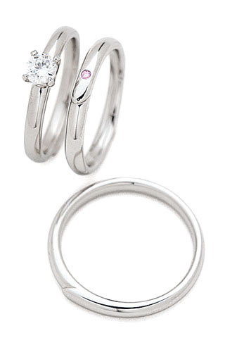 ( Brand Jewelry fresco )  プラチナ ダイヤモンドリング(婚約指輪・結婚指輪)エンゲージ マリッジ セット 3本【楽ギフ_包装】 【DEAL】