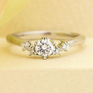 ( Brand Jewelry fresco )  プラチナ ダイヤモンドリング(婚約指輪・結婚指輪)【楽ギフ_包装】