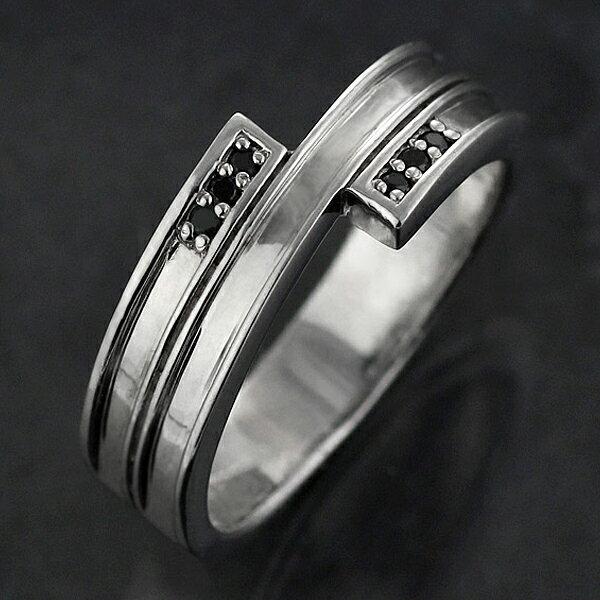リング メンズ メンズリング メンズ リング 指輪 シルバー925 ブラックキュービックジルコニア【楽ギフ_包装】