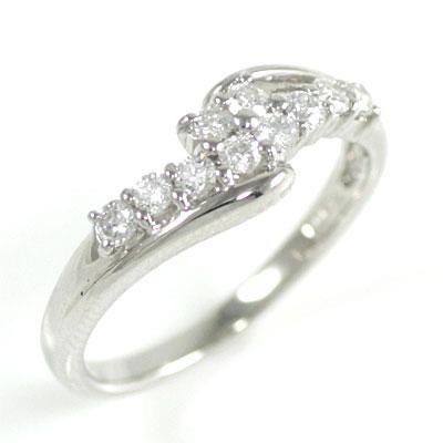 結婚10周年記念 プラチナ ダイヤモンドリング【楽ギフ_包装】