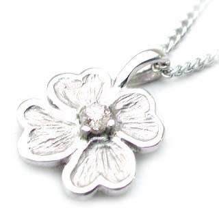 ( 4月誕生石 ) SVダイヤモンドペンダント(クローバーモチーフ)【楽ギフ_包装】 【DEAL】