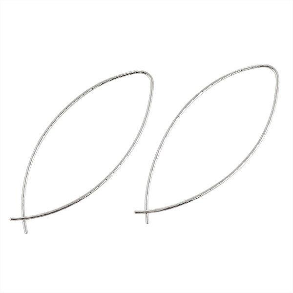 ピアス シンプル ワイヤー K14ホワイトゴールド 人気【楽ギフ_包装】