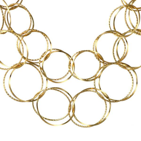 地金ネックレス 18kネックレスチェーンのみ 18金ネックレス イエローゴールド フープ デザインチェーン【楽ギフ_包装】