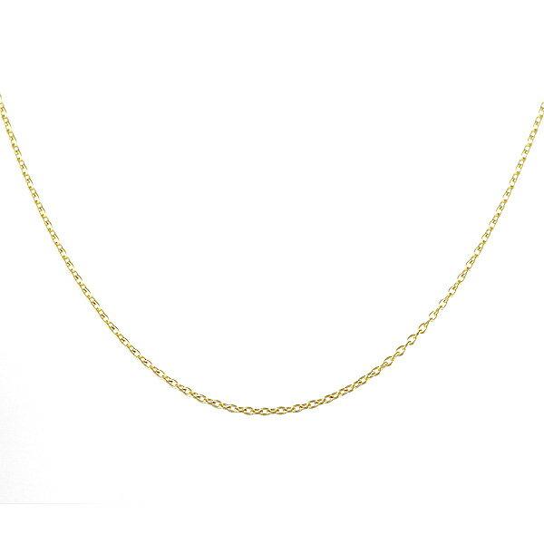 ネックレス 18金 K18 18k 丸小豆 アズキ 線径0.20mm 幅1mm チェーン 地金 イエローゴールド 全長50cm