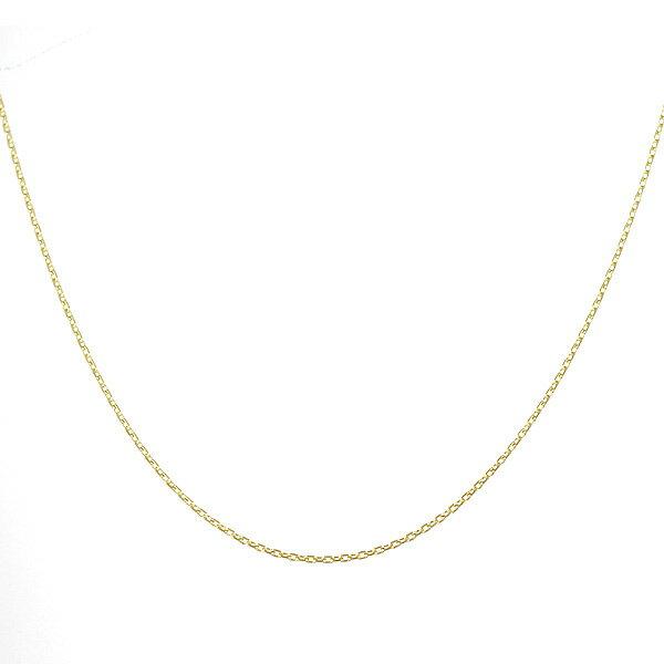 ネックレス 18金 K18 18k カット小豆 アズキ 線径0.28mm 幅1mm チェーン 地金 イエローゴールド 全長50cm