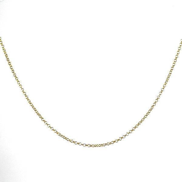 ネックレス 18金 K18 18k 甲丸小豆 アズキ 線径0.40mm 幅1.1mm チェーン 地金 イエローゴールド 全長50cm