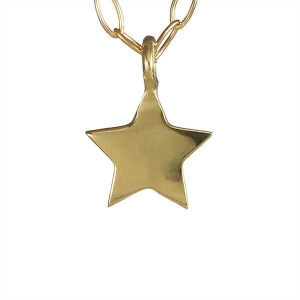 イエローゴールド 10金 K10 星 スター プレート ネックレス 人気 おすすめ  レディース 女性【楽ギフ_包装】 【DEAL】