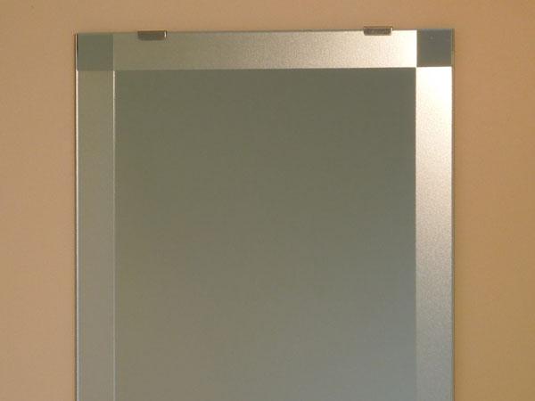 鏡 ミラー 洗面鏡 化粧鏡【JHAデザインミラー】 シンプル3 W500×H500【ビス用】(フレームレスミラー ノンフレーム 化粧鏡 玄関 洗面 トイレ 寝室 おしゃれ 店舗)