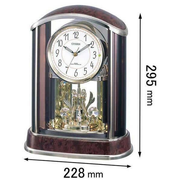 4RY658-N23 シチズン 置時計 パルアモールR658N [4RY658N23]【返品種別A】【送料無料】