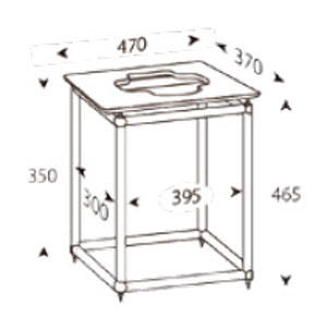 ALT-S12A アンダンテラルゴ 1段オーディオラック【受注生産品】 ANDANTE LARGO Rigid Table Silence [ALTS12Aリジツトテブル]【返品種別B】【送料無料】
