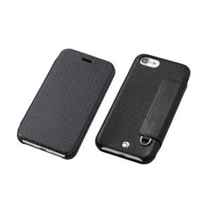 DCS-IP7PRAFCLBK ディーフ iPhone 7 Plus/6s Plus/6 Plus用 フリップレザーケース ブラック Deff RONDA Carbon & Spanish Leather Case [DCSIP7PRAFCLBK]【返品種別A】【送料無料】