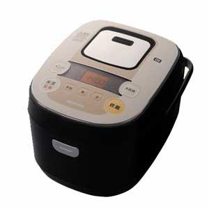 KRC-IB50-B アイリスオーヤマ IHジャー炊飯器(5.5合炊き) ブラック/シャンパンゴールド IRIS OHYAMA 銘柄炊きIHジャー炊飯器 [KRCIB50B]【返品種別A】【送料無料】