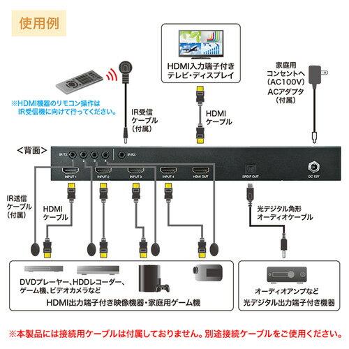 SW-HD41MTV サンワサプライ HDMI画面分割切替器(4入力・1出力)  [SWHD41MTV]【返品種別A】【送料無料】