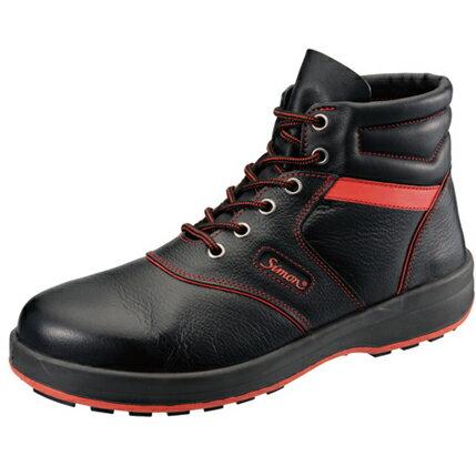 【送料無料】SIMON・シモン 安全靴 編上靴 SL22-R黒/赤 28.0cm 1700240