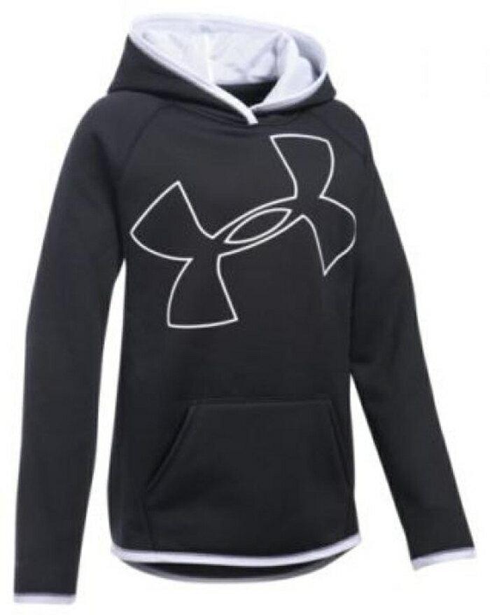 アンダーアーマー フリース ロゴ フーディー パーカー 女の子用 (小学生 中学生) 子供用 under armour storm fleece big logo hoodie ベビー マタニティ キッズ トップス
