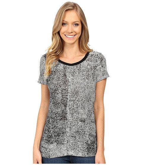 calvin klein jeans printed short sleeve mixed media slub tee スリーブ tシャツ ハーフパンツ ショーツ パンツ トップス レディースファッション