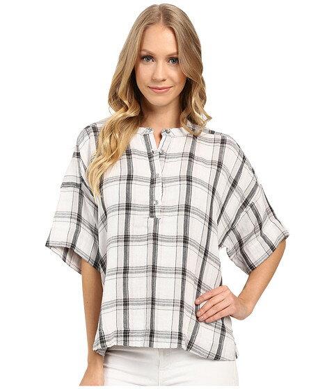 パンツ ヘンリー スリーブ 3 4 calvin klein jeans plaid henley sleeve shirt レディースファッション トップス