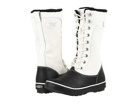 靴 レディース ブーツ KEEN ELSA TALL CANVAS WATERPROOF