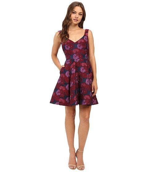 nicole ニコール miller ミラー wildflowers jacquard ジャガード fit フィット and flare フレアー dress ドレス ワンピース レディースファッション