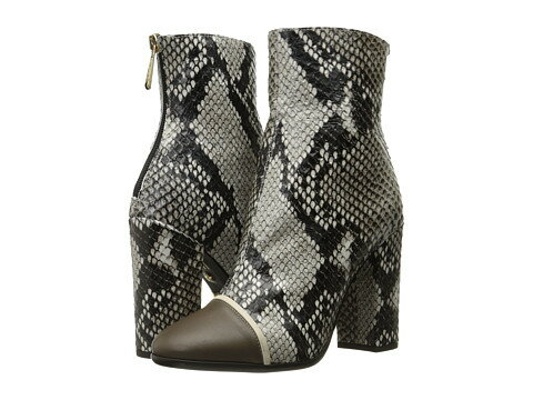 靴 レディース ブーツ JUST CAVALLI PYTHON PRINTED HIGH ハイ HEEL ANKLE BOOTIE