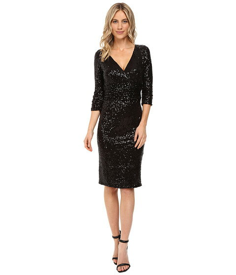 nue by shani crossover vneckline sequin knit dress ドレス ニット クロスオーバー ワンピース レディースファッション