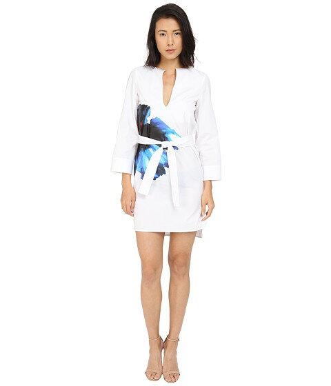 ディースクエアード dsquared2 ポプリン ドレス コットン ワンピース ハイビスカス cotton poplin hibiscus dress レディースファッション