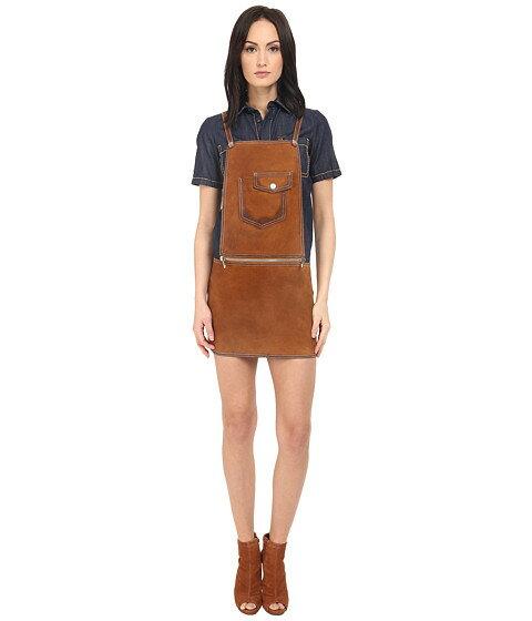 アロー ディースクエアード alo dsquared2 レザー ワンピース ドレス カーフ calf leather maylea saloupette dress レディースファッション