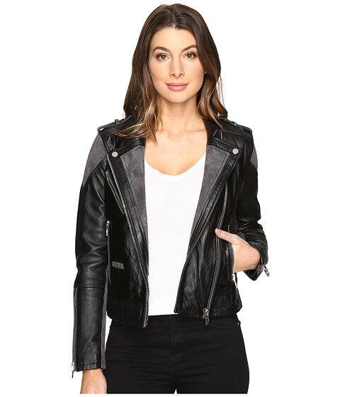 グレイ 黒 gray灰色 ブラック leather suede ジャケット blank nyc real moto jacket with black and grey detail in vices アウター コート レディースファッション