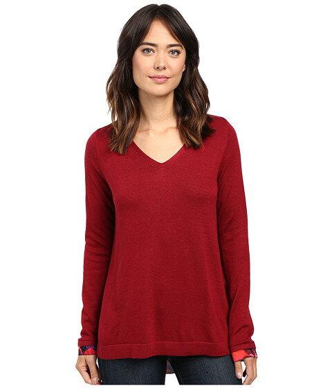 nydj key item mixed media sweater レディースファッション ニット セーター トップス