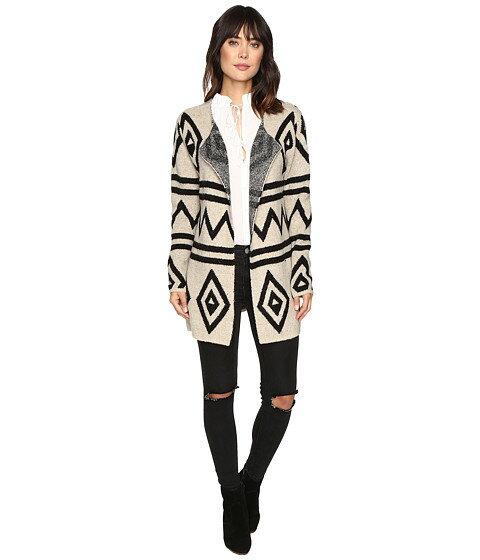 brigitte bailey mae fuzzy geometric cardigan レディースファッション セーター ニット トップス