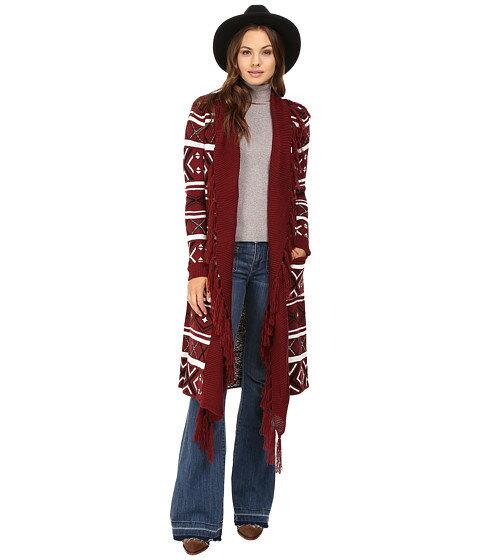 w jack by bb dakota maribeth intarsia maxi cardigan fringe トップス レディースファッション セーター ニット