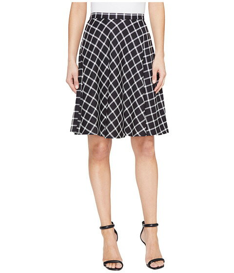 Tahari by ASL Plaid A-Line Skirt