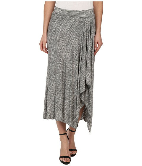 Mod-o-doc Space Dyed Asymmetrical Hi-Low Hem Skirt
